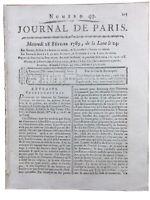 Convocation des États Généraux 1789 Paris Révolution Française Noblesse Journal