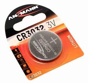Ansmann CR3032 Knopfzelle Batterie Lithium | DL3032 ECR3032 KCR3032 | 3V 550mAh