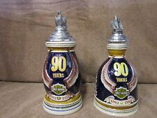 Harley Davidson 90th Anniversary Decanter & Stein *Mint* #99185-93V & #99186-93V