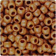 BeadTin Tiger Eye Brown Opaque 9mm Barrel Pony Beads (500pcs)