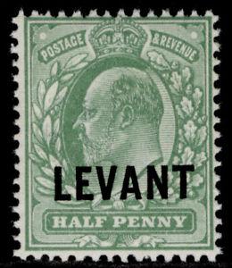 BRITISH LEVANT GV SG L11, ½d dull yellow-green, NH MINT. Cat £50.