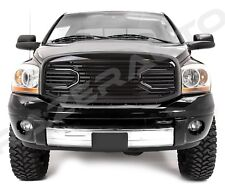 06-09 Dodge RAM 2500+3500 Front Gloss Black Big Horn Grille+Replacement Shell