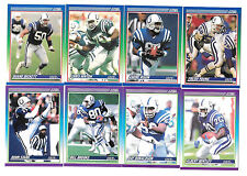 1990 SCORE FOOTBALL INDIANAPOLIS COLTS TEAM SET (20) BICKETT,BENTLEY,GEORGE,BALL