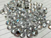 Natural Zircon White Color Round Cut Loose Gemstone Lot