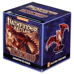 Gargantuan Red Dragon Miniature Pathfinder Battles Dungeons Deep D&D PAINTED NEW