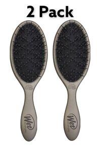 2 Pack Wet Brush Thick Coarse Hair Detangler - Pewter