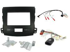MITSUBISHI OUTLANDER 2007-2013 BLACK FASCIA & STEERING CONTROL KIT FOR AMPLIFIED