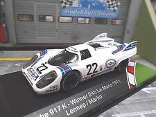 PORSCHE 917 K Racing Le Mans 1971 Martini #22 Lennep Marko Martini Win IXO 1:43