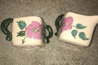 Vintage Rare Kay Finch Briar Rose Creamer And Sugar Set