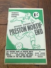 More details for official history of preston north football club . by alex james circa 1947 - 48