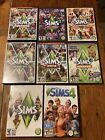 Lot Of 8 The Sims 3 (7) & (1) 4 W Expansions Computer Game Pc Cd Dvd Rom Mac Ea