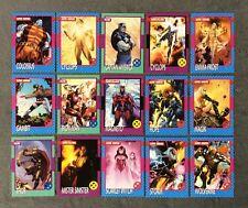 2015 Fleer Marvel Retro 1992 X-Men Impel Design Insert Comic Card Set 1-15