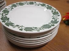 """Royal China Underglaze 11 Green Ivy 6 1/4"""" Small plates Vintage Antique dishes"""
