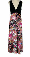 Crossroads Womens Black/Pink Sleeveless Long Maxi Dress Size M