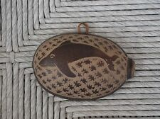 Calabash Gourd/ Bowl Wall Hanging Serving bowl*Decor*Hand Carved*Dolphin*Small