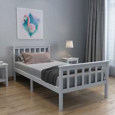 Single Bed Grey 3ft Solid Wooden Bed Frame Adult, Children Bed Home Furniture UK