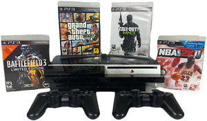 Playstation 3 PS3 40GB Fat Console Bundle + 4 Games