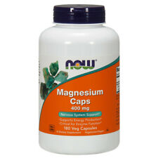 Magnesium - 400mg x 180 Veg Capsules, Migraines, Asthma, Cramps, PMS- NOW Foods