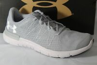 UNDER ARMOUR UA THRILL 3 MEN'S RUNNING SHOES, SIZE 8.5, GREY, 1295736-101