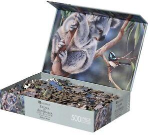 Koala & Blue Wren Jigsaw Puzzle 500 Piece Australian Flower Gift Flower Birds