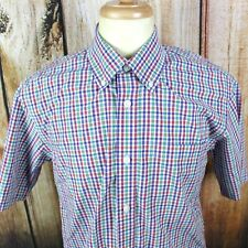 Orvis Men��s Medium Colorful Plaid Short Sleeve Button Down Shirt Gingham Check