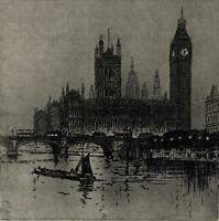 WILLIAM FRANCIS LONGSTAFF (1879-1953) Signed Etching WESTMINSTER LONDON