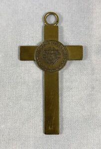 Vintage Goldtone Knights of Columbus Cross Pendant