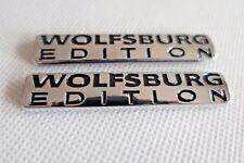 2pcs WOLFSBURG EDITION Emblem ABS Chrome Car Badge for VW Passat Jetta Golf GTI