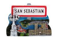 San Sebastian Magnet Souvenir Spanien Espana Spain 7 cm,Neu !