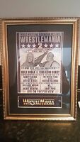 Wrestlemania 2 1986 Framed  Mounted Event Poster Hulk Hogan Randy Savage WWF