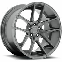 20 Niche Wheels Targa M129 Concave Gray Rims Tires Fits Accord Maxima G35 350Z