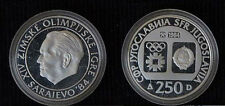 1984 Yugoslavia Large silver Olympic 250 D Tito PROOF