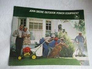 1978 John Deere outdoor power equip brochure lawn tractor mower tiller