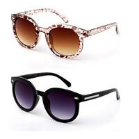 Kids Girls Horn Rim Sunglasses Round Lens Fashion Frame Small Frame Face
