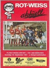 Orig.PRG   2.Bundesliga Süd  1991/92   ROT WEISS ERFURT - TSV 1860 MÜNCHEN  !!