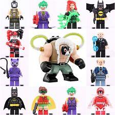 2018 13 ps Set Dc comic Super hero Batman joker+'BIG Bane' Mini figures fit Lego