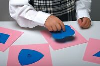 Montessori inset shapes home education sen 2D Shapes template