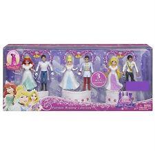 Mattel Disney Princess MagiClip Wedding Collection Dolls Set NEW Ariel Rapunzel