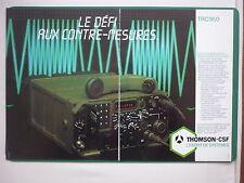 5/85 PUB THOMSON-CSF TELECOMMUNICATION RADIO TRC950 ELECTRONIC WARFARE FRENCH AD