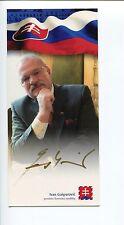Ivan Gasparovic President of Slovakia Signed Autograph Photo