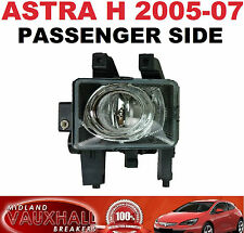VAUXHALL ASTRA H FRONT FOG LIGHT LAMP PASSENGER LEFT NEAR SIDE SRI SXI CDTI