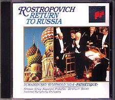 ROSTROPOVICH Return to Russia TCHAIKOVSKY Symphony 6 GERSHWIN Walking the Dog CD