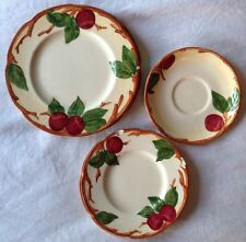"""Franciscan Apple 5xPlates Made in California USA Size 5.75"""" 6.25"""" 8"""" Chipped"""