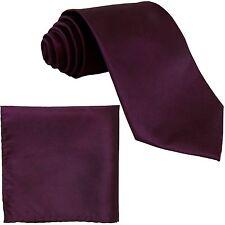New Men's Chintz Neck Ties Necktie and Pocket Square Hankie Set Dark Purple prom