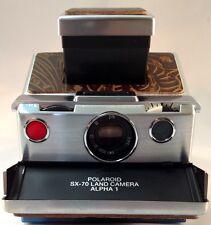 Polaroid SX70 PolaSkinz DarkBrown Western Floral Napa Cow Replacement Skn SLR680