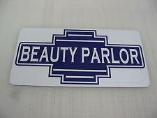 Purple BEAUTY PARLOR Metal Sign 40's 50s Retro Vintage Style Art Deco Hair Salon