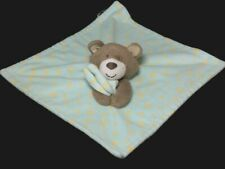 Little Miracles Bear Green Yellow Stars Costco Mini Lovey Security Blanket Baby