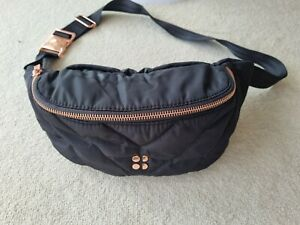 Sweaty Betty Icon Quilted Bum Bag Black RRP £70