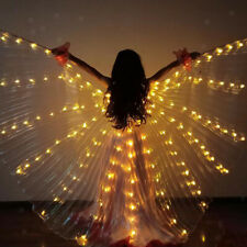 Iridescent LED Luminous Isis Wings Glowing Stage Performance Dance Wings Yellow