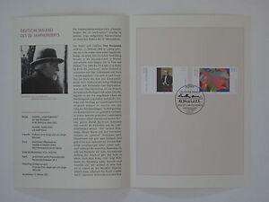 (03j11) Bund Erinnerungsblatt 2003 mit ESST Mi.Nr. 2315-2316 deutsche Malerei